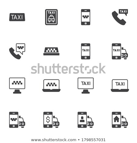 Línea taxi colección elementos vector Foto stock © pikepicture