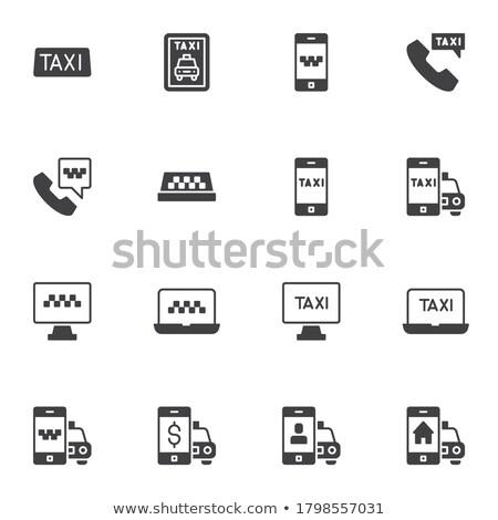 онлайн такси коллекция Элементы вектора Сток-фото © pikepicture