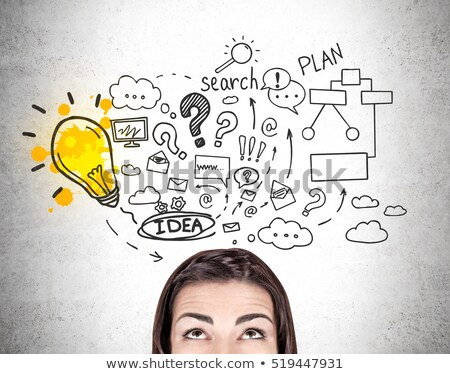 Escribir negocios plan personas idea bombilla Foto stock © robuart