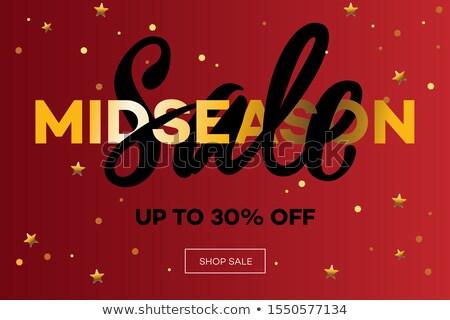 Verkoop christmas web banner gelukkig mode Stockfoto © ikopylov