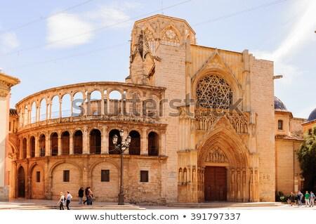 базилика Lady Валенсия Испания храма руин Сток-фото © borisb17