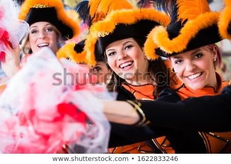 Stockfoto: German Traditional Dance Group Funkenmariechen In Carnival Celebration