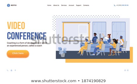 online education man listening to tutor on board stock photo © robuart
