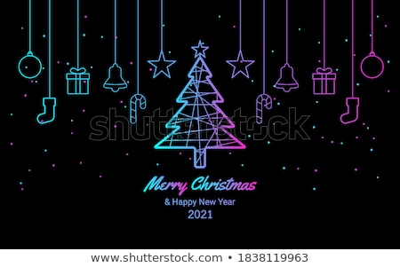 merry christmas neon sign purple stock photo © voysla