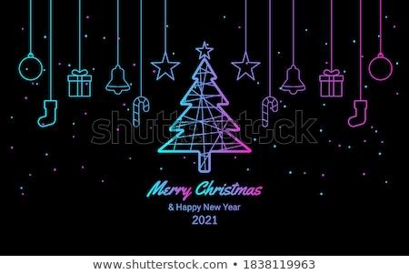 Alegre natal roxo cartão Foto stock © Voysla