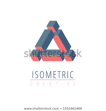 Abstrato isométrica impossível cubo triângulo design de logotipo Foto stock © kyryloff