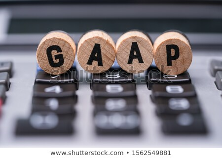 Gaap Letters On Wooden Blocks Over Calculator Stock photo © AndreyPopov