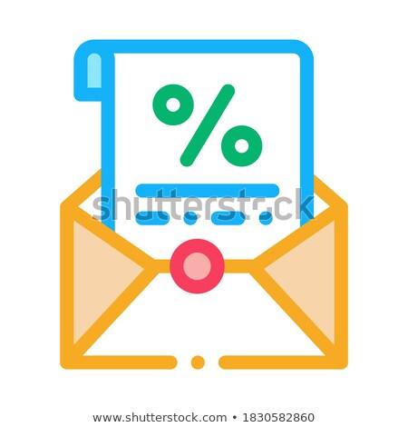 Imprimé lettre icône vecteur illustration Photo stock © pikepicture