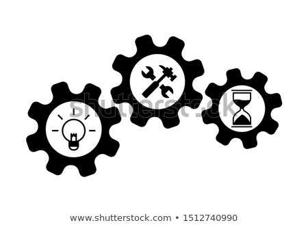 Wrench and Hammer, Hourglass and Bulb, Nut Vector Stock photo © robuart