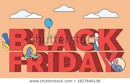 People on Caption, Black Friday Sale Shopping Stock photo © robuart