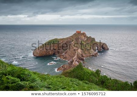 San juan ada küçük kilise ülke İspanya yol Stok fotoğraf © Burchenko