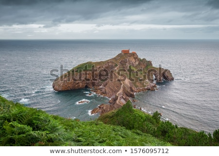 San juan ilha capela país Espanha estrada Foto stock © Burchenko