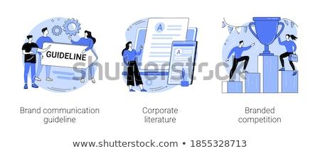 Vállalati irodalom márka marketing arculat logoterv Stock fotó © RAStudio