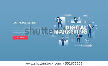 Digital marketing vector concept metaphors Stock photo © RAStudio