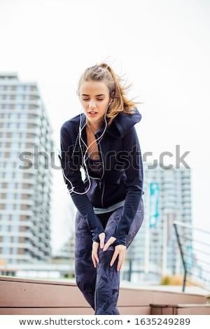 Jogger Probleme Knie Ausbildung Problem Schmerzen Stock foto © boggy