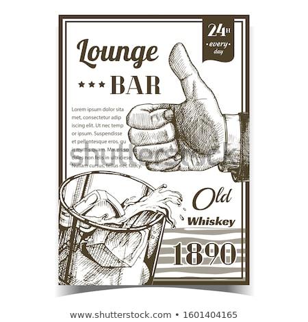Whisky starych salon bar reklamy banner Zdjęcia stock © pikepicture