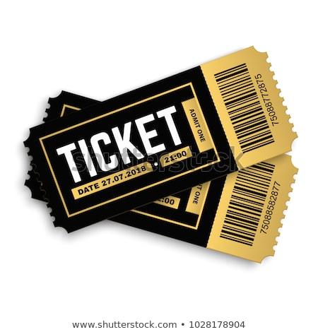 vintage golden cinema tickets movie pass template  Stock photo © SArts