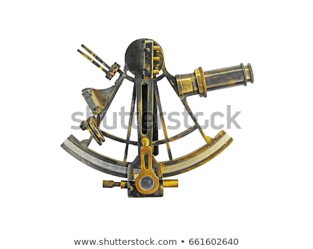 Sextant - ancient navigation astrolabe, vintage nautical navigat Stock photo © gomixer