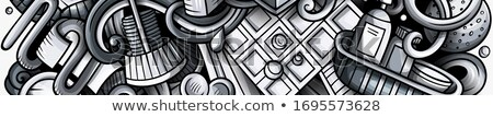 バス 手描き いたずら書き バナー 漫画 詳しい ストックフォト © balabolka