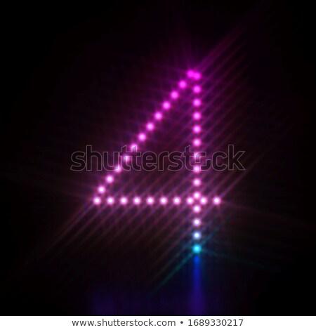Różowy niebieski kropka świetle chrzcielnica numer Zdjęcia stock © djmilic