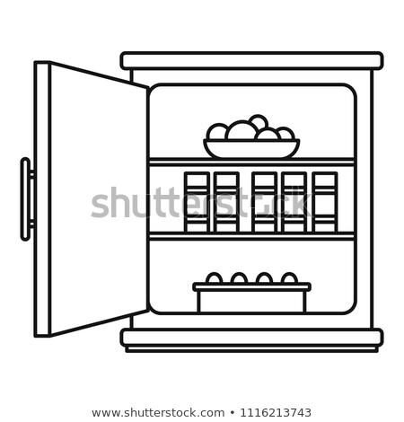 öffnen Packung Butter Symbol Vektor Gliederung Stock foto © pikepicture