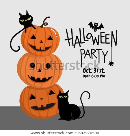 Halloween fiesta calabaza arana bate establecer Foto stock © ShustrikS