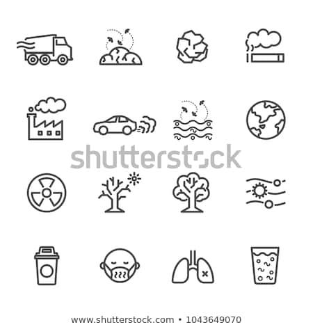 Planety zanieczyszczenia ikona wektora ilustracja Zdjęcia stock © pikepicture