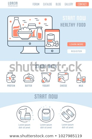 Dairy products concept landing page. Stock photo © RAStudio