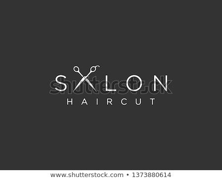 抽象的な ロゴ 美容院 ファッション 背景 ショップ ストックフォト © butenkow