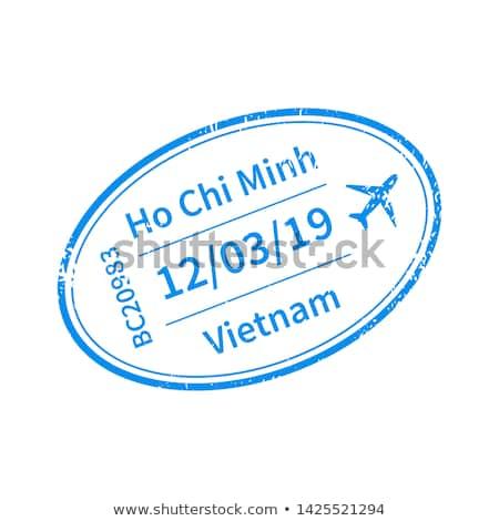 Vietnam nemzetközi utazás VISA bélyeg fehér Stock fotó © evgeny89