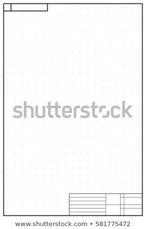 Dikey düzen planı stil şablon kâğıt Stok fotoğraf © evgeny89