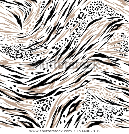 Fényes leopárd bőr végtelen minta rajz fekete Stock fotó © evgeny89