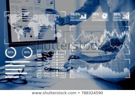 Piyasalar gösterge paneli bilgisayar bilgi teknolojisi iş ofis Stok fotoğraf © AndreyPopov