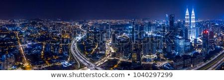 Linha do horizonte central distrito comercial Kuala Lumpur Malásia céu Foto stock © dmitry_rukhlenko