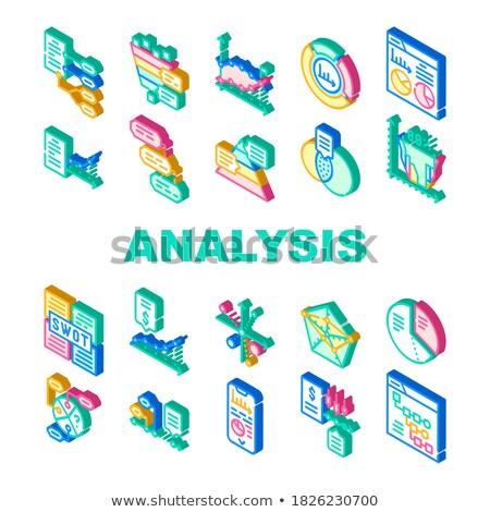 Analyse stratégie isométrique vecteur ensemble Photo stock © pikepicture