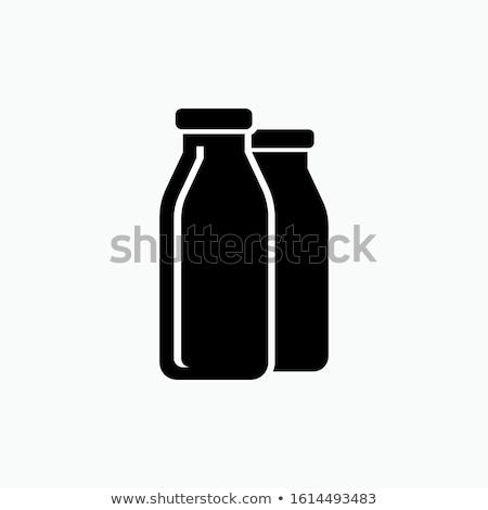 Packung Milch Flaschen Symbol Vektor Gliederung Stock foto © pikepicture