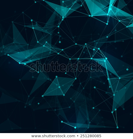 digital technology network connection low poly background Stock photo © SArts