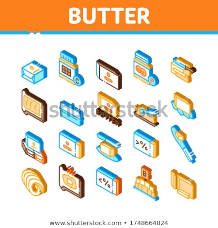 Butter Or Margarine Isometric Icons Set Vector Stock photo © pikepicture