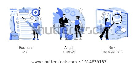 Portfólió vezetőség vektor metafora korábbi projektek Stock fotó © RAStudio