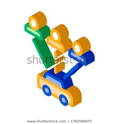 Komputera wzywając online taksówką izometryczny Zdjęcia stock © pikepicture