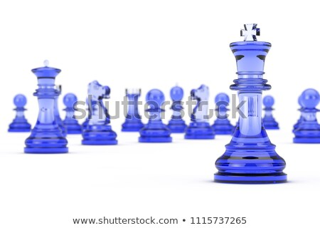 Vetro re pezzo degli scacchi 3D rendering 3d illustrazione Foto d'archivio © djmilic