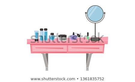 Roze gezicht mode make zorg lifestyle Stockfoto © goir
