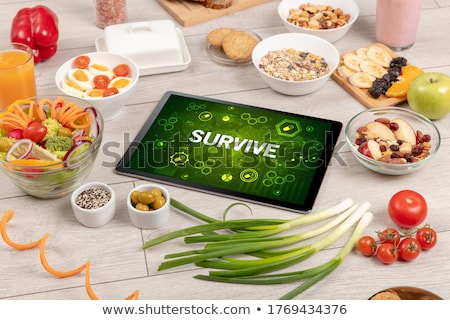 Healthy Tablet Pc compostion, immune system boost concept Stock photo © ra2studio