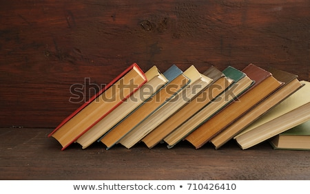 background with several books Stock photo © AnnaVolkova