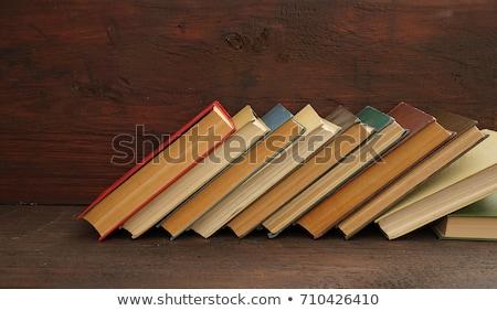 néhány · könyvek · csíkos · papír · iskola · terv - stock fotó © AnnaVolkova