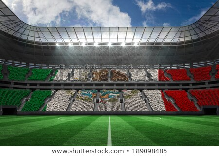 Mexicaanse voetbal gras vlag hemel Stockfoto © Saphira