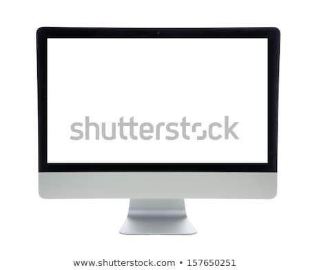 ordenador · puesto · de · trabajo · aislado · supervisar · teclado · ratón - foto stock © ansonstock