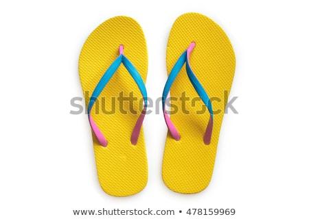 pair of flip-flops isolated on a white background Stock photo © tetkoren