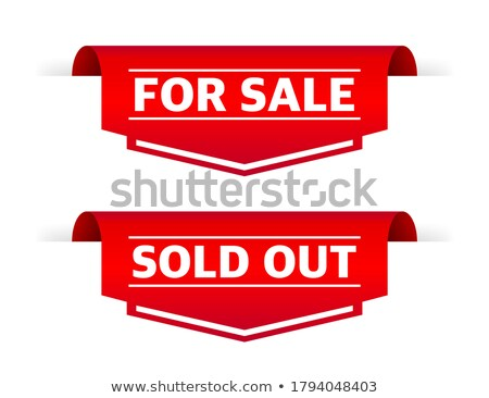 Fresh red sale ribbon / paper - bookmark Stock photo © orson