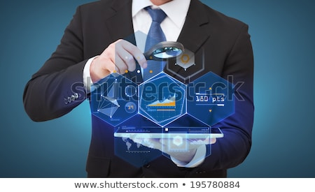 magnifying glass   mass media stock photo © kbuntu